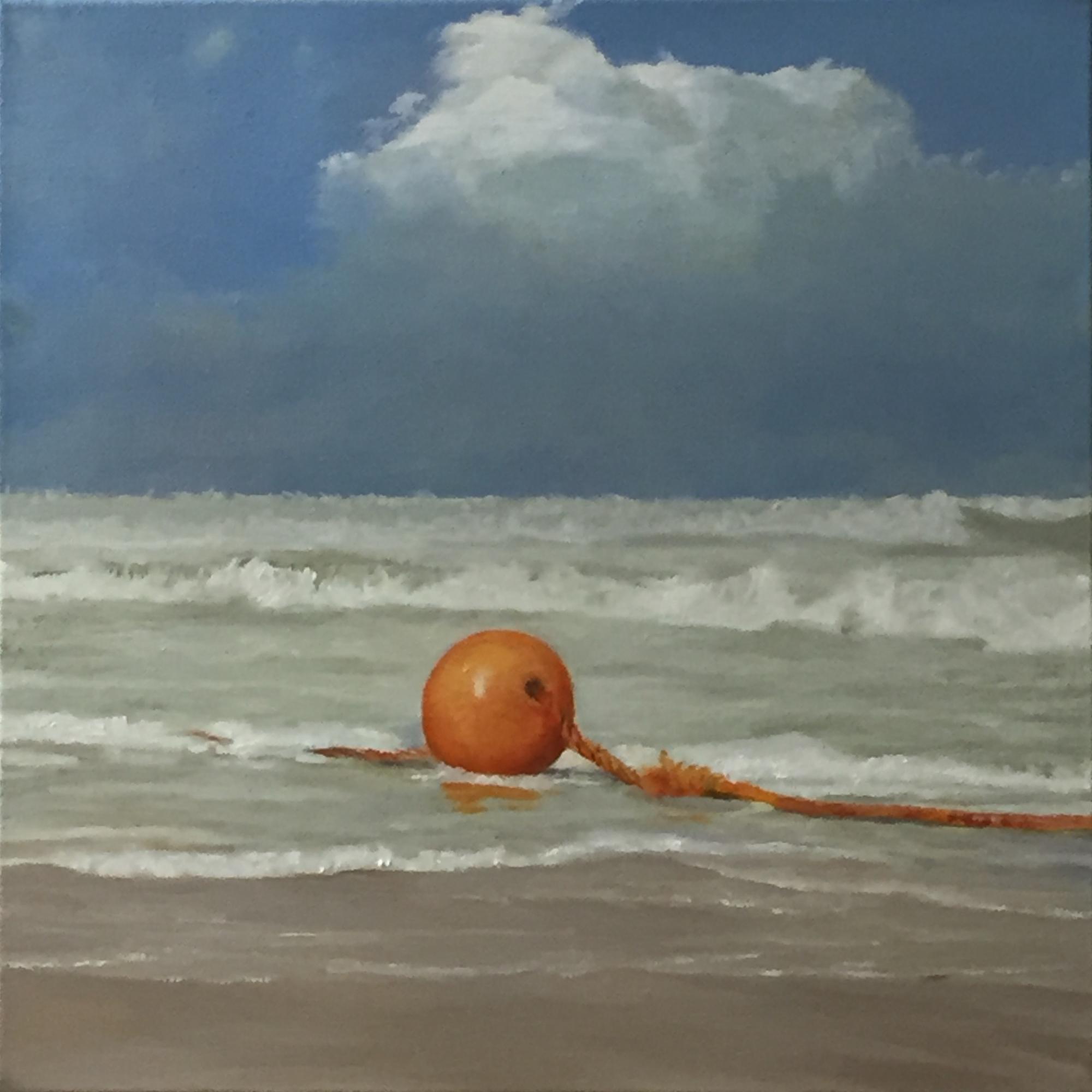 Orange net float